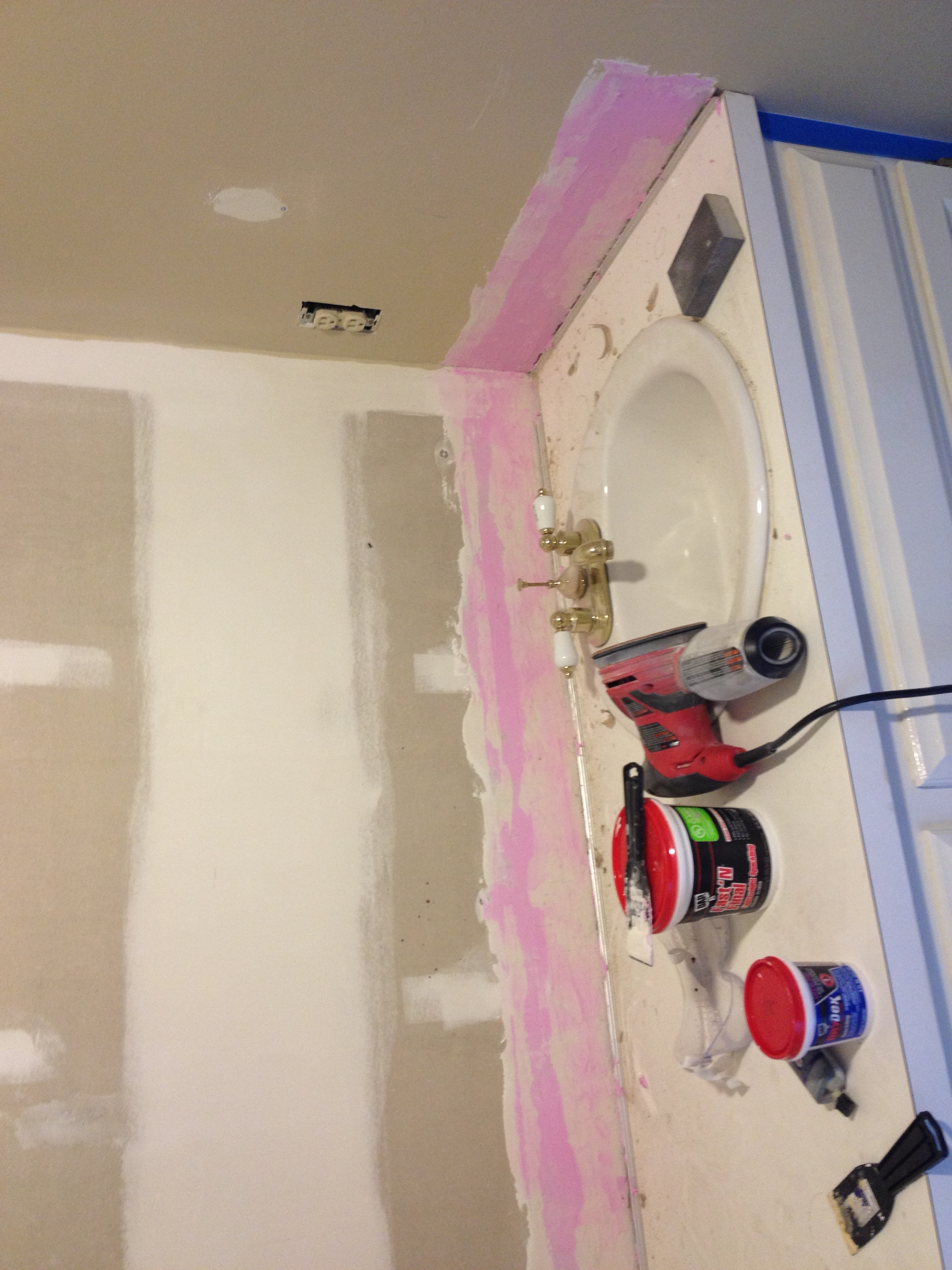One day bathroom reno part 1 all things new interiors for How to reno a bathroom