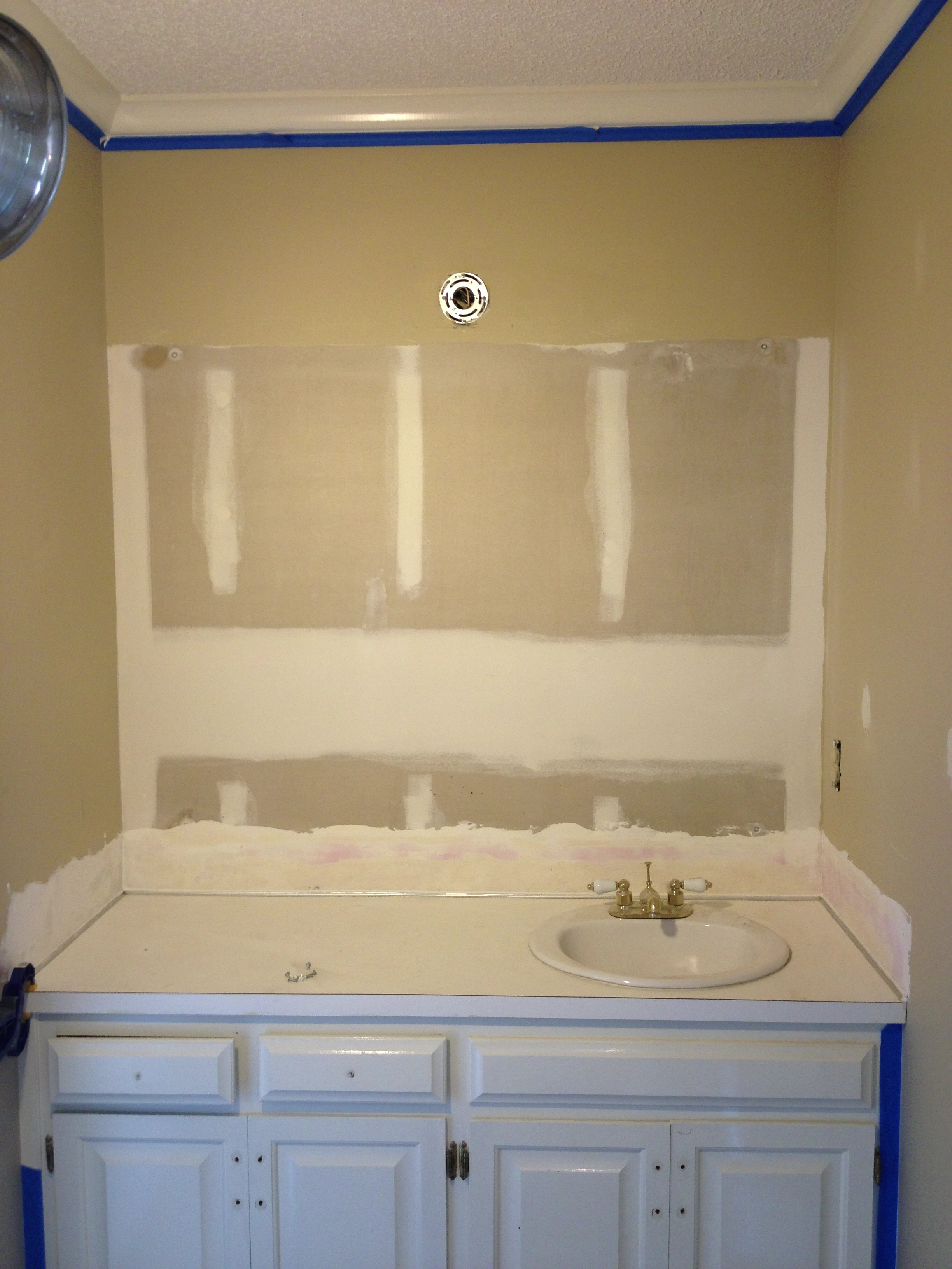 Makeover monday one day bathroom reno part 2 and the for How to reno a bathroom