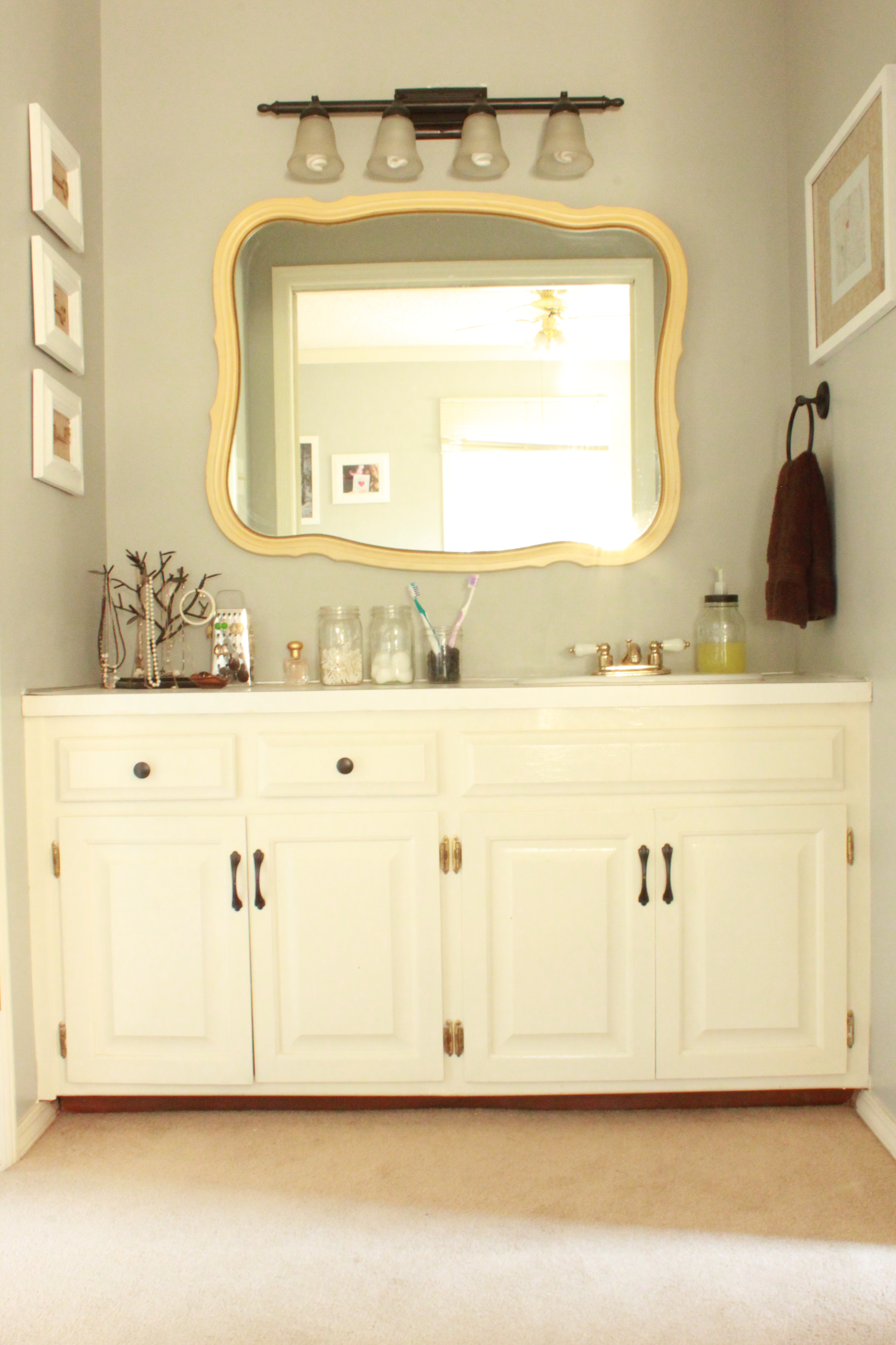 Painting Master Bathroom Vanity with Chalk Paint | All Things New ...
