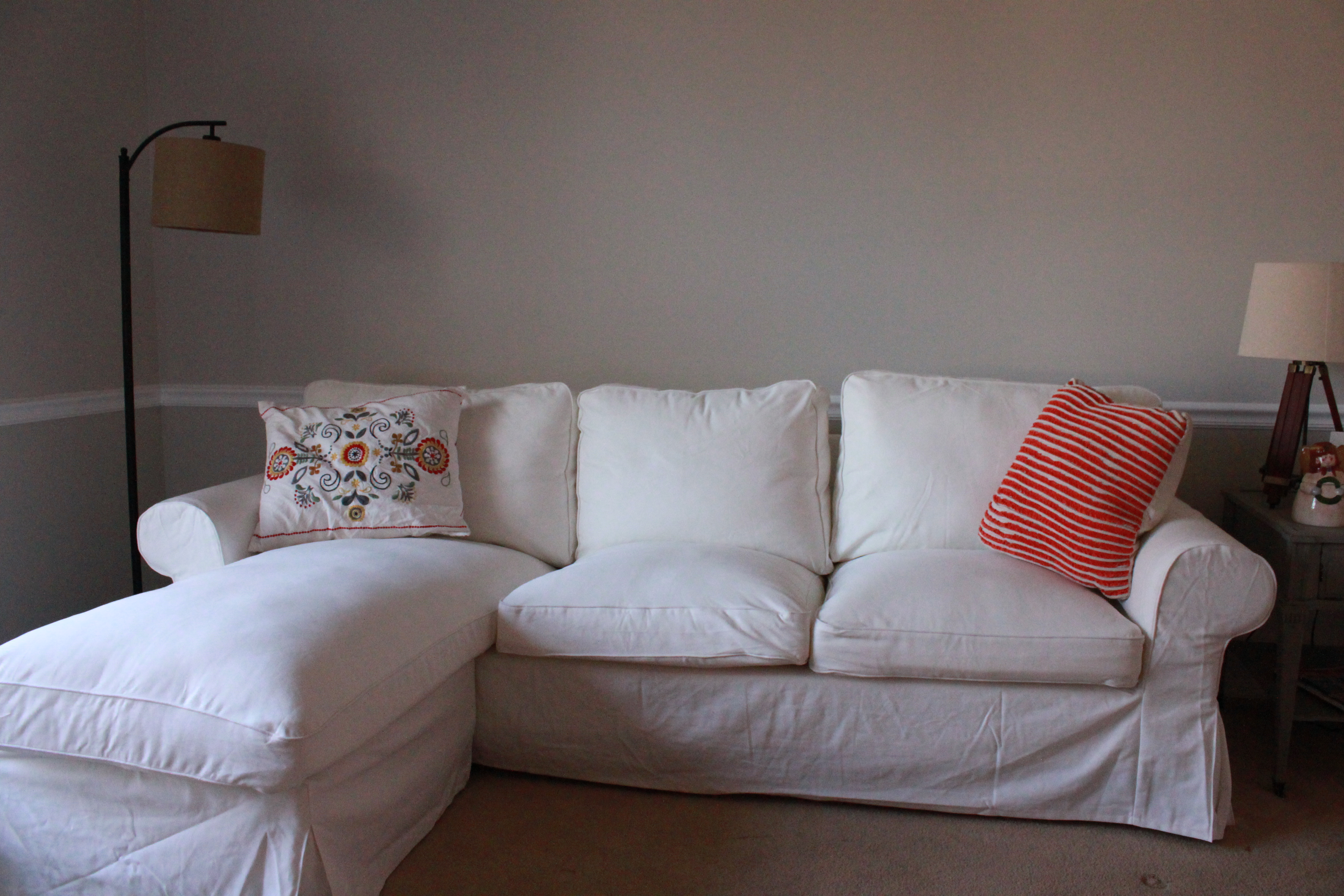 Awesome Our New Sofa Doing It Right This Time All Things New Interiors . Ektorp  Chaise ...