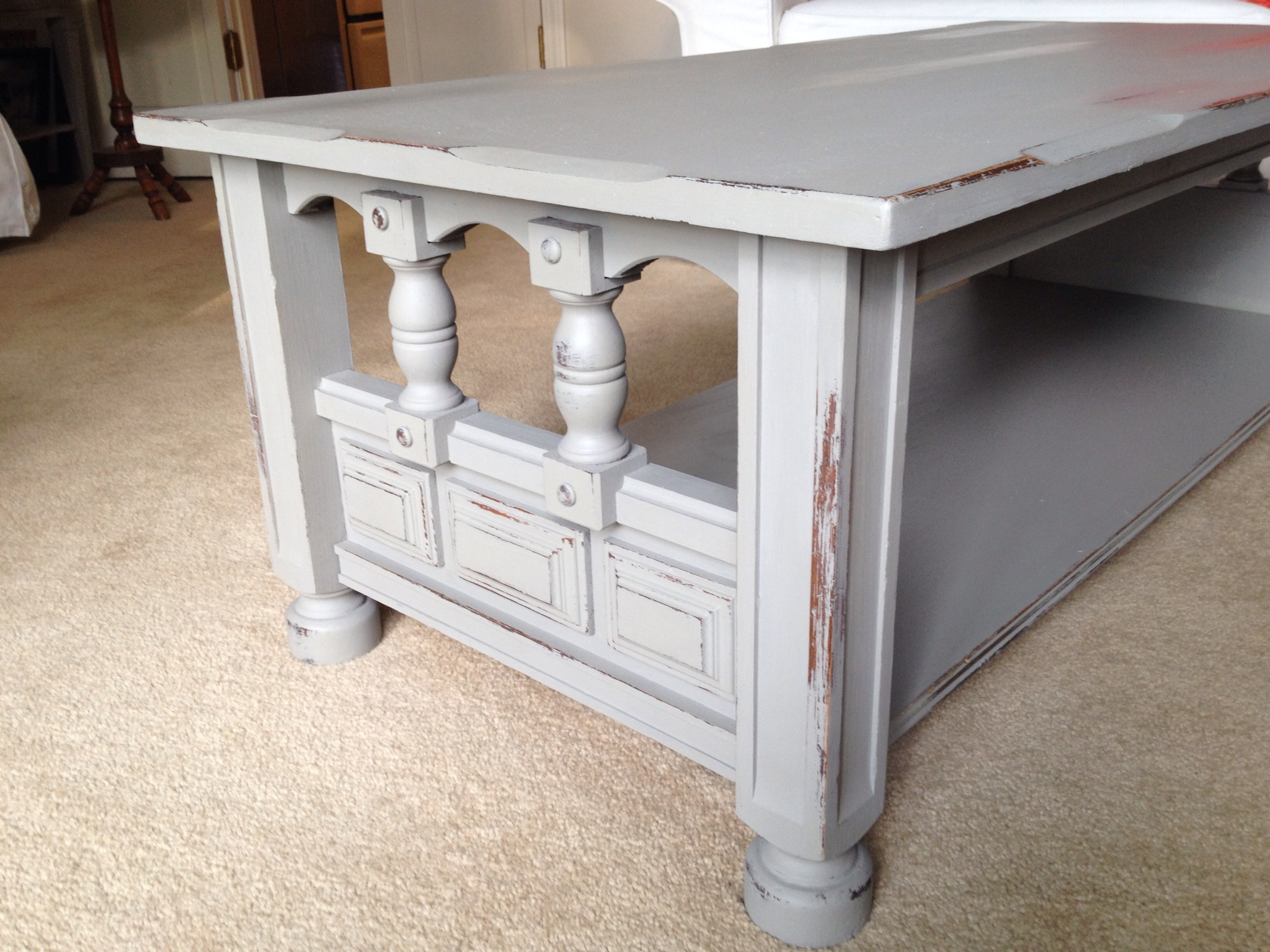 French Linen Detailed Coffee Table