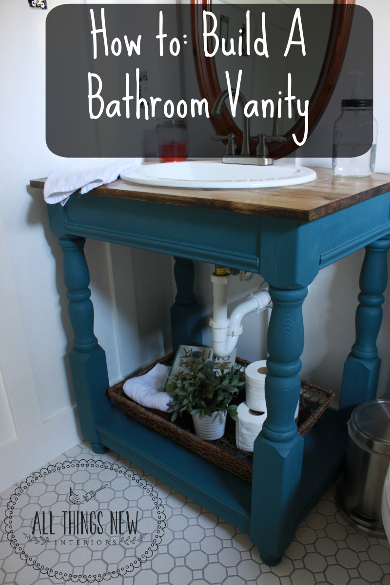 Guest bathroom how to build a farmhouse vanity all for Bathroom things
