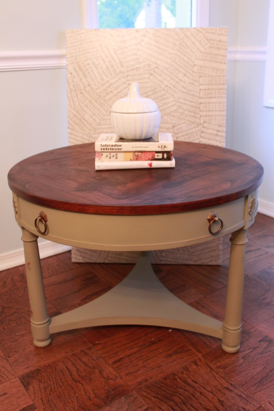 Country Sage End Table