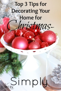 3 holiday decor tips